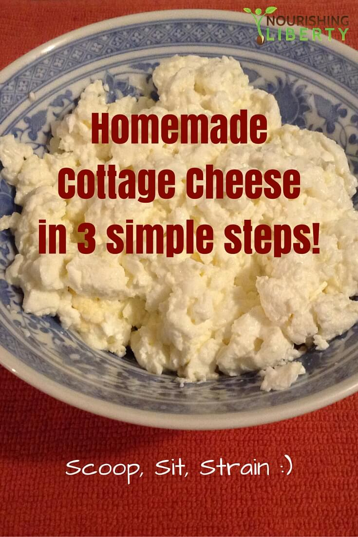Homemade Cottage Cheese in 3 simple steps!